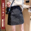 skirt Spring 2021 S,M,L,XL Black, apricot Short skirt commute High waist A-line skirt lattice Type A 18-24 years old 30% and below other thatxiaov other zipper Korean version