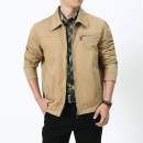 Jacket Jeep chariot / Jeep Chariot Business gentleman Army green, khaki, black M 130 kg, l 150 kg, XL 165 kg, xxl180 kg, xxl195 kg, xxxxl210 kg routine standard Other leisure autumn Long sleeves stand collar Simplicity in Europe and America youth routine Zipper placket 2016 other washing other cotton