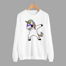Sweater / sweater Autumn of 2018 white S,M,L,XL Long sleeves routine Socket singleton  routine Crew neck Straight cylinder street routine 18-24 years old 51% (inclusive) - 70% (inclusive) Other / other Vinylon bow Europe and America
