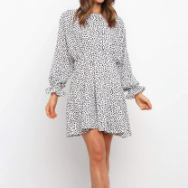 Dress Autumn 2020 Main graph color S,M,L,XL Short skirt singleton  street Dot Socket Others 18-24 years old Type A Europe and America