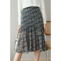 skirt Spring 2021 S,M,L,XL Broccoli Mid length dress grace K1556 More than 95% polyester fiber