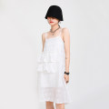 Dress Summer 2020 white S, M Mid length dress singleton  elbow sleeve street Crew neck High waist Decor other Pencil skirt routine Others 25-29 years old Type A Other / other Open back, stitching 31% (inclusive) - 50% (inclusive) other cotton neutral