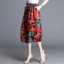 skirt Summer of 2019 XL 2XL 3XL 4XL Mid length dress High waist Pleated skirt skirt 71% (inclusive) - 80% (inclusive) Compete world cotton Cotton 76.6% polyester 20.8% polyurethane elastic fiber (spandex) 2.6% Pure e-commerce (online only)