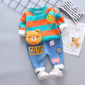 suit Other / other 73cm,80cm,90cm,100cm,110cm neutral spring and autumn leisure time Long sleeve + pants 2 pieces Plush No model Socket nothing Cartoon animation cotton children Expression of love Class B Cotton 95% other 5% 6 months, 12 months, 9 months, 18 months, 2 years, 3 years, 4 years