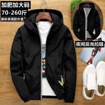 Jacket Silk Wristband Fashion City S. M, l, XL, 2XL, 3XL, 4XL 178-198 Jin, 5XL 198-218 Jin, 6xl 218-230 Jin, 7XL 230-258 Jin thin standard Other leisure autumn Long sleeves Wear out Hood 2018 Closing sleeve
