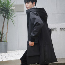 Windbreaker Kacelsy Youth fashion M L XL XXL XXXL zipper Medium length easy Other leisure autumn youth Hood (not detachable) tide KA-FY21378 Polyester 100% Solid color No iron treatment Digging bags with lids Coated fabric Multiple pockets polyester fiber Autumn 2020 Pure e-commerce (online only)
