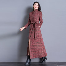 woolen coat Winter of 2018 S,M,L,XL,2XL,3XL wool 31% (inclusive) - 50% (inclusive) have more cash than can be accounted for Long sleeves commute Single breasted routine stand collar Self cultivation Korean version Solid color polyester fiber Tweed
