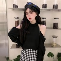 Fashion suit Summer 2020 S. M, average size Black top, plaid skirt 18-25 years old