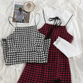 Fashion suit Spring 2021 S. M, l, average size White and black dress, red and black dress, white shirt 18-25 years old 71% (inclusive) - 80% (inclusive) polyester fiber