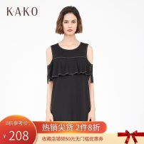 Dress Spring of 2019 Black 90 S/155 M/160 L/165 XL/170 Mid length dress Sweet 25-29 years old K · a · K · O / Jiake B3260583 31% (inclusive) - 50% (inclusive) nylon Viscose fiber (viscose fiber) 59.9% polyamide fiber (nylon fiber) 32.8% polyurethane elastic fiber (spandex fiber) 7.3%