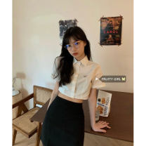 Fashion suit Summer 2021 Separate shots Short shirt, short black skirt s, short black skirt m, short black skirt L 18-25 years old