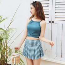 Split swimsuit other S [recommended 80-90 kg], m [recommended 90-100 kg], l [recommended 100-110 kg], XL [recommended 110-120 kg] Skirt split swimsuit With chest pad without steel support Polyester, others female Crew neck
