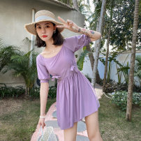 Split swimsuit other Purple 230, pink 230, blue 230 S [recommended 80-90 kg], m [recommended 90-100 kg], l [recommended 100-110 kg], XL [recommended 110-120 kg], 2XL [recommended 120-130 kg] boxer With chest pad without steel support Polyester, others female Crew neck