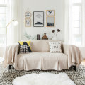 Sofa cover / towel Beige (4 clips for free) 210*260cm 210*300cm 210*350cm Sofa cover (covering the whole sofa) Northern Europe Solid color Sectional sofa blending Juu products SFT