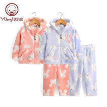 Home suit Yobeyi / youbeiyi 90cm 100cm 110cm 120cm 130cm 140cm 150cm 160cm 86505 Bunny orange 86505 Bunny Blue winter female Polyester 100% 11-13 years old or over 13 years old 5-7 years old 7-9 years old 9-11 years old Keep warm at home Y16486505-01 Winter of 2018