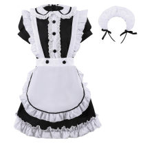 National costume / stage costume Spring 2021 23032 black and white Maid Dress white skirt white silk stockings S M L XL Mmm Polyester 100%