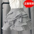 skirt Spring of 2019 S,M,L,XS Black and white dots# Short skirt Versatile High waist Cake skirt other Type A 31% (inclusive) - 50% (inclusive) other cotton Zipper, print, 3D
