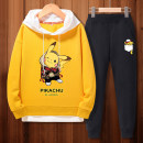 suit 110cm 120cm 130cm 140cm 150cm 160cm 165cm male spring and autumn Korean version Long sleeve + pants 2 pieces routine There are models in the real shooting Socket No detachable cap Cartoon animation cotton children Expression of love Class B Cotton 80.3% polyester 19.7% Spring 2020 zhongshan