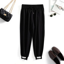 Women's large Spring 2021 black Recommended body weight: 250-160 kg trousers singleton  commute easy moderate Korean version Three dimensional cutting GY21J1KZR3927 Yizishang 30-34 years old Bandage Pure e-commerce (online only) trousers
