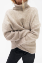 sweater Autumn 2020 S,M,L Blue, sand Long sleeves Socket singleton  Regular acrylic fibres 31% (inclusive) - 50% (inclusive) High collar Regular Solid color Z-TRF