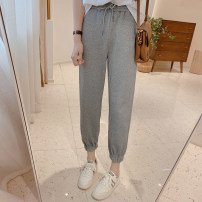 Casual pants S/26,M/27,L/28,XL/29 Spring 2021 trousers Haren pants High waist commute routine 25-29 years old 91% (inclusive) - 95% (inclusive) IMFLY cotton Korean version pocket cotton