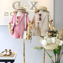 suit Other / other Apricot, pink female summer Korean version Short sleeve + pants 3 pieces routine Official pictures Socket nothing Solid color other friend Expression of love Class B Other 100% 2 years old, 3 years old, 4 years old, 5 years old, 6 years old, 7 years old, 8 years old