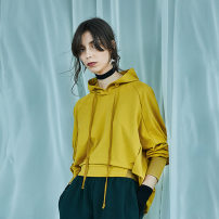Sweater / sweater Spring 2020 Tender bud yellow, spring rain green, tender bud yellow second batch, spring rain green second batch S,M,L,XL Long sleeves routine Socket singleton  routine Hood easy commute routine Solid color 25-29 years old 91% (inclusive) - 95% (inclusive) The sun is shining cotton