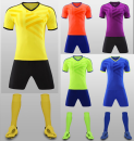 Football clothes Adult fluorescent green, children's fluorescent green, adult purple, children's purple, children's blue, adult orange, children's orange, adult yellow, children's yellow, adult blue XXXL,XXL,XL,L,M,S,XS currency Light board Drop off (match Kit) Short suit Home court