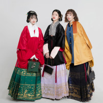 Hanfu 51% (inclusive) - 70% (inclusive) The delivery time is 45 days for burnt yellow, 45 days for black, 45 days for magenta, and 45 days for customization S. M, l, XL, message data polyester fiber