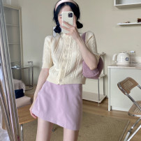 Fashion suit Summer 2021 S. M, l, average size Apricot sweater, skirt 18-25 years old 4.7B