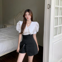 Fashion suit Summer 2021 S, M White shirt, black skirt 18-25 years old 4.10C