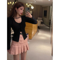 Fashion suit Summer 2021 S. M, l, average size Apricot top, black top, apricot skirt, pink skirt 18-25 years old 4.5A