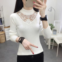 Wool knitwear Autumn of 2019 Average size Long sleeves singleton  Socket Viscose 31% (inclusive) - 50% (inclusive) Regular routine commute Self cultivation Half height crew neck routine Solid color Socket Korean version
