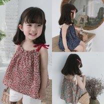 Parent child fashion other female camisole summer lady Thin money Broken flowers cotton Cotton 95% other 5%
