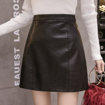 skirt Winter 2020 S M L XL XXL Black yellow blue Short skirt commute High waist A-line skirt Solid color 25-29 years old 81% (inclusive) - 90% (inclusive) other Nonsar / ningsa polyester fiber zipper Korean version Polyester 90% other 10% Pure e-commerce (online only)