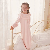 Home skirt / Nightgown ROSE TREE 90cm,100cm,110cm,120cm,130cm,140cm,150cm Polyester 100% Light green, soft pink winter female 1-3 years old, 3-5 years old, 5-7 years old, 7-9 years old, 9-11 years old Keep warm at home Class B T18084
