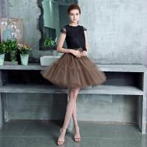 skirt Winter of 2019 Fixed 6 soft net + 1 lining version, customized original pondo 6 layers of American net Black (this one is very pompous), white (this one is very pompous), the main picture is brown (this one is very pompous), custom color, ask customer service for color card Middle-skirt Gauze