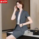 Professional dress suit S M L XL XXL XXXL 4XL Single black suit single gray suit 3206 black suit + 327 black skirt 3206 gray suit + 327 gray skirt 3206 black suit + S600 black pants 3206 gray suit + S600 gray pants Summer 2021 Short sleeve DKYYRH-3206 Coat other styles Suit skirt 18-25 years old