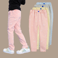 trousers Walking rabbit female spring and autumn trousers Korean version There are models in the real shooting Casual pants Leather belt middle-waisted cotton Don't open the crotch Class B Spring 2021