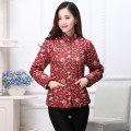 Middle aged and old women's wear Autumn 2016 XL,XXL,XXXL,4XL Home Cotton easy singleton  Flower and bird pattern Cardigan moderate