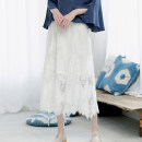 skirt Spring 2020 S,M,L Black, white longuette fresh Natural waist A-line skirt Big flower Type A 25-29 years old NX18SSA42 More than 95% Lace Nai / Nai polyester fiber