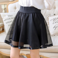 skirt Summer 2020 S,M,L,XL Black, nail beads, floret pearls, big and small beads, stars, totem, new lace black, circle blue, circle black, circle white Short skirt commute High waist Fluffy skirt Solid color Type A 18-24 years old 31% (inclusive) - 50% (inclusive) other other Nail bead, yarn net