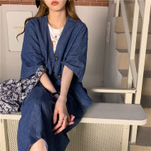 Fashion suit Summer 2021 Average size Denim cardigan, skirt 18-25 years old 31% (inclusive) - 50% (inclusive)