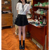 skirt Spring 2021 XS,S,M,L black , white , Black second batch , White second batch , Black third batch Short skirt commute High waist Pleated skirt Type A 18-24 years old 71% (inclusive) - 80% (inclusive) other polyester fiber Korean version