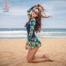 Split swimsuit Sanqi Black 80, Navy 53 M L XL XXL boxer With chest pad without steel support Spandex polyester others Summer of 2018 yes Crew neck Long sleeves