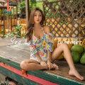 Bikini Sanqi Decor 00 M L XL Skirt bikini Steel strap breast pad Nylon, spandex, polyester, others Summer of 2018 yes