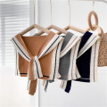 Scarf / silk scarf / Shawl Wool Patchwork striped Cape - Camel color , Patchwork striped Cape - Medium grey , Patchwork striped Cape - blue Spring and autumn, summer, winter female Shawl multi-function Korean version other Youth, youth, middle age stripe Splicing More than 96%