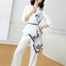 Fashion suit Autumn 2020 S M L XL XXL White with Decor blue with Decor Xinyuquan 96% and above polyester fiber Polyester 100% Pure e-commerce (online only)
