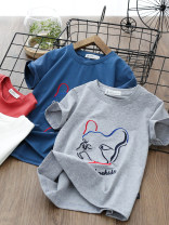 T-shirt Short sleeve big dog blue, short sleeve big dog gray, short sleeve big dog white, short sleeve big dog red Other / other male summer Short sleeve Crew neck motion No model nothing cotton other L3013 Sweat absorption
