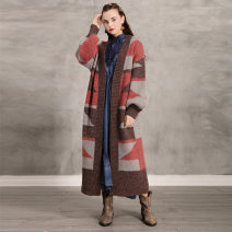 Wool knitwear Spring 2021 Average size Decor Long sleeves singleton  Cardigan cotton 71% (inclusive) - 80% (inclusive) Medium length thickening easy Half open collar bishop sleeve other 25-29 years old